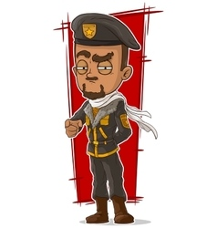 Cartoon soldier with beret and scarf vector image