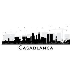 Casablanca morocco city skyline silhouette with vector