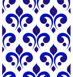 ceramic thai pattern blue and white vector image