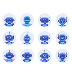 chat bot avatars robotic digital assistant avatar vector image