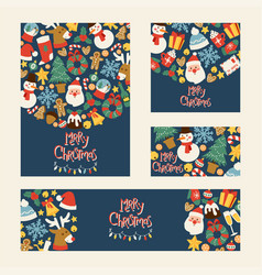 Christmas 2019 happy new year greeting card vector