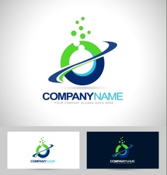 Circle logo design vector