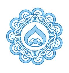 cirular lace mandala style vector image