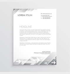 clean gray letterhead design template vector image