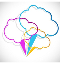 Cloud stickers vector image
