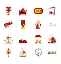 Collection of elements related to carnival vector