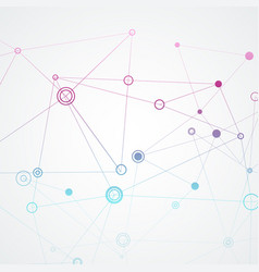 Connection polygonal with connecting dots and vector