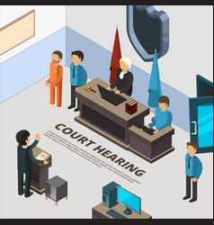 court session banners law process in judicial vector image