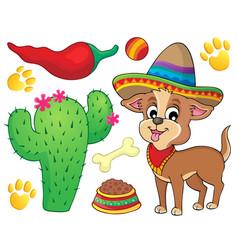 Cute dog theme image 3 vector