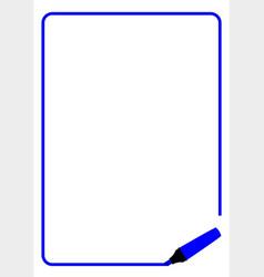 Dark blue highlighter page border vector