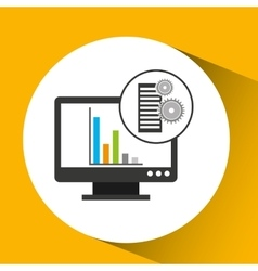 Database setting computer graphs icon vector