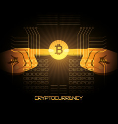 design of cryptocurrency types vector image