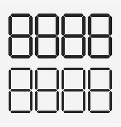 digits display electronic figures the dial on a vector image