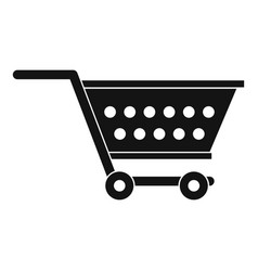 Empty supermarket cart icon simple style vector