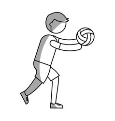 ethlete practicing volleyball avatar vector image