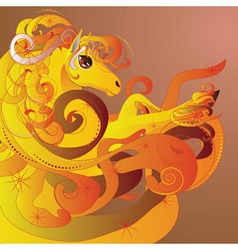 Flaming horse2 vector image