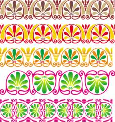 flower pattern border vector image
