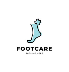 Foot care logo design templatefoot with cr vector