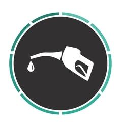 Gasoline pump nozzle computer symbol vector