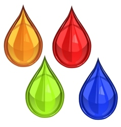 glossy waterdrop or blood vector image