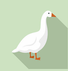 Goose icon flat style vector