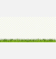 grass borders set green tufts plants horizontal vector image