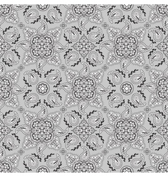 gray paisley pattern vector image