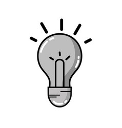 Grayscale light bulb idea to intelligent and vector
