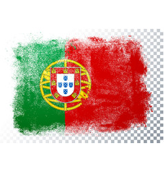 Grunge and distressed flag portugal vector