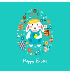 Happy easter 4 vector image