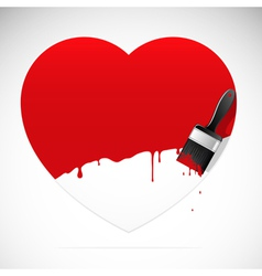 heart brush vector image