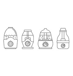Home humidifier icon set outline style vector