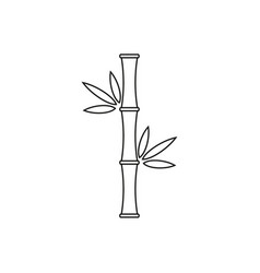 Icon bamboo tree vector