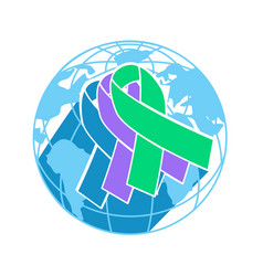 Icon international awareness day vector