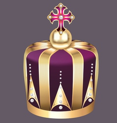 imperial crown of gold vector image