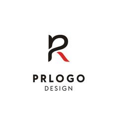 initials letter pr rp monogram logo design vector image