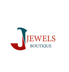 Jewels jewelry boutique letter j icon vector