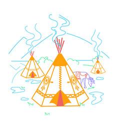 Life indigenous people vector