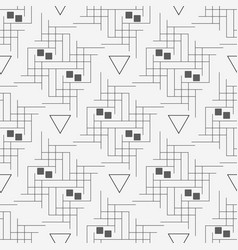 line and triangle seamless pattern modern vector image