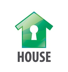 Logo green house and keyhole vector