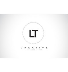 Lt l t logo design with black and white creative vector