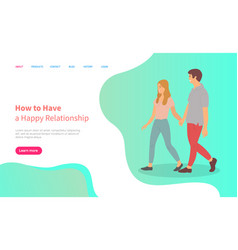 male and female characters relationship vector image
