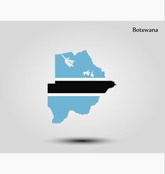 map botswana vector image