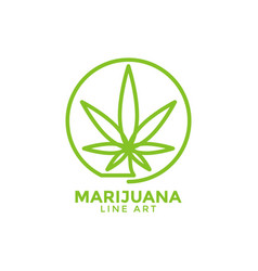 marijuana leaf graphic design template vector image