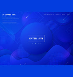 modern abstract blue vivid color technology web vector image