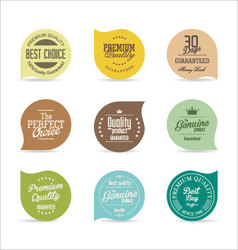 Modern badges collection 3 vector