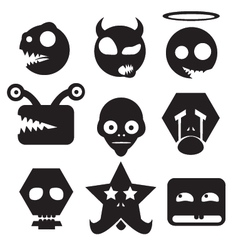monster icons vector image