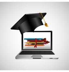 online education concept school accessories vector image