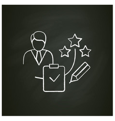 Personal assessment chalk icon vector