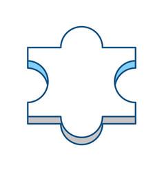 puzzle piece symbol vector image